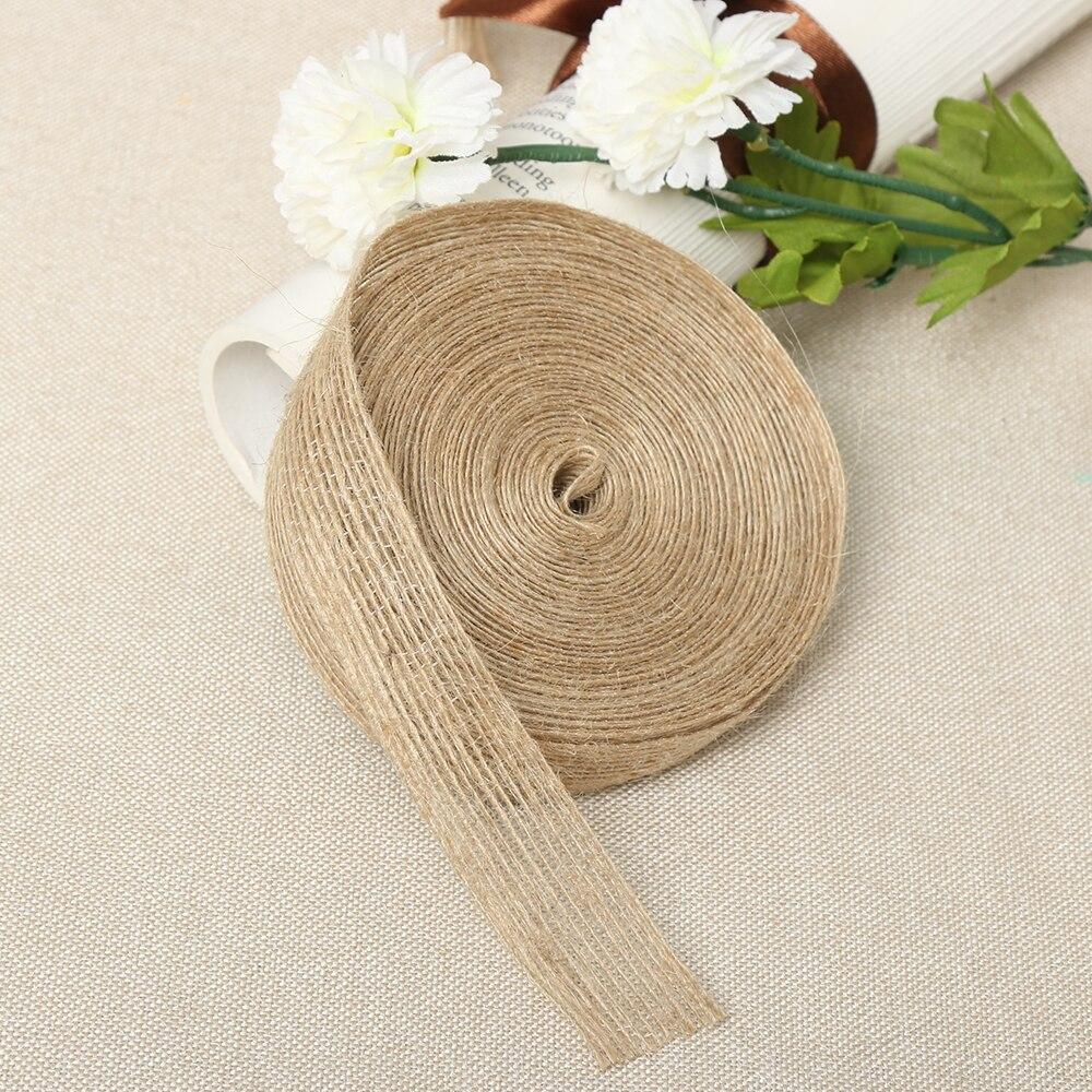 New Fashion 5M/10M Natural Vintage Jute Burlap Ribbon DIY Weddings Belt Strap Floristry Wedding Party Decoration Craft