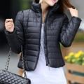 Mulheres Jaqueta de inverno 2014 Nova Moda Casaco de Inverno Mulheres Outerwear Short Slim Espessamento de Algodão-Acolchoado Jaqueta Feminina Parka Inverno
