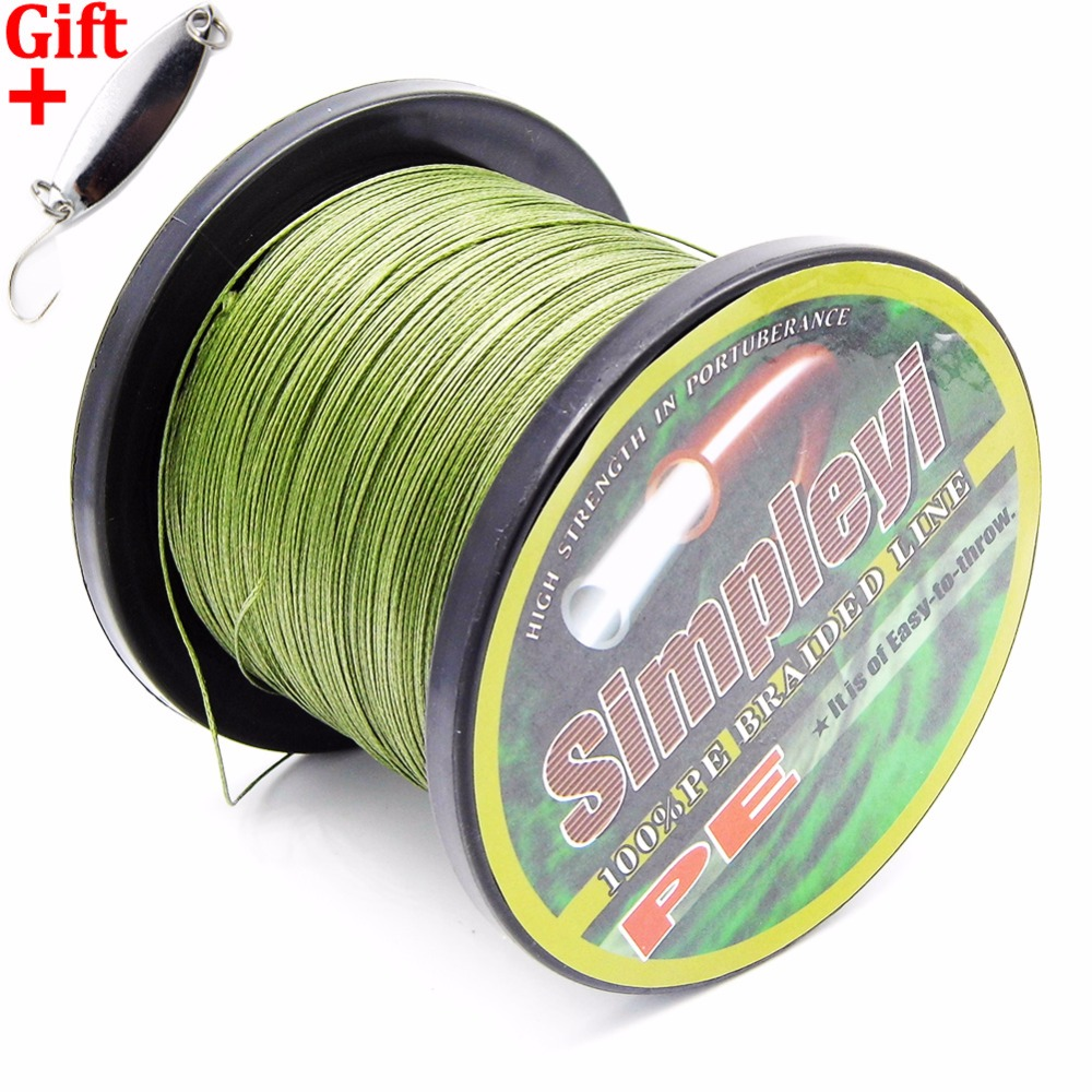 Simpleyi Lure As Gift 1000m 8 Stands X8 Multifilament Pe Braided Fishing Line Tackle 10lb - 80lb 90lb 100lb 120lb To 300lb Wire simpleyi lure as gift 1000m 8 stands x8 multifilament pe braided fishing line tackle 10lb 80lb 90lb 100lb 120lb to 300lb wire