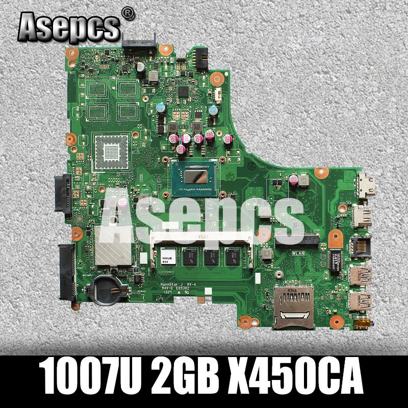 Asepcs For Asus X450CC X450CA Motherboard with 1007U cpu 2GB memoryAsepcs For Asus X450CC X450CA Motherboard with 1007U cpu 2GB memory