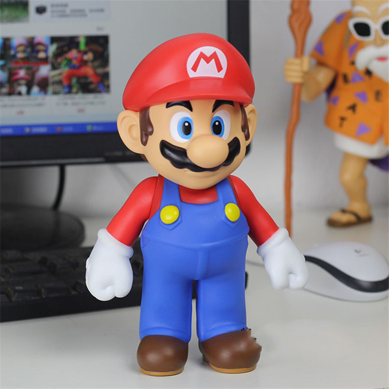 Super Mario Game toy Cosplay PVC Cartoon Action Figures Model PVC toy Birthday Christmas Gift For Japanese Anime Lover 25cm N059 ems shipping 12 sets cute super mario game mario luigi brothers set pvc action figure collection model dolls toy 3pcs per set