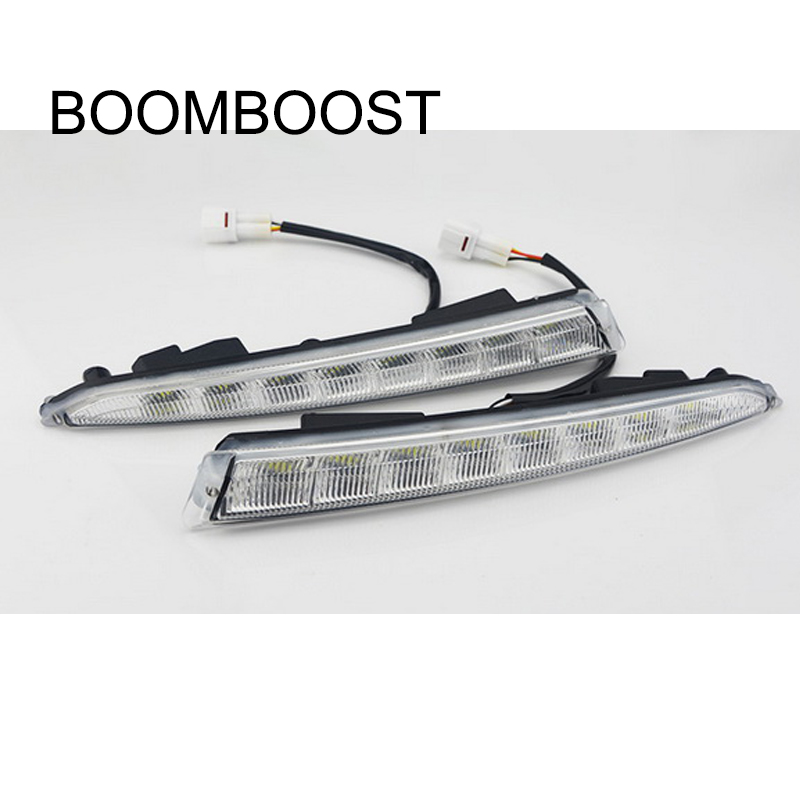 BOOMBOOST hot sales 2 pcs daylight Car styling daytime running lights for F/ord k/uga Or E/scape 2013-2015 boomboost 2 pcs car accessory daytime running lights for f ord k uga or e scape 2013 2015 car styling