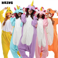 HKSNG Unicorn Pikachu Pajamas High Quality Polar Fleece Espeon Lemur Cat Seal Wolf Animal Dog Onesie