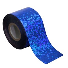 2016 Beauty Deep Blue ColorTransfer Foil Roll Glitter Laser Nail Sticker For Nail Fashion Fingernail Decals Accessories WY252