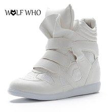 LOUP QUI Creepers Plate-Forme Chaussures pour Femmes Isabel Occasionnels Femmes chaussures High Top Crochet et Boucle Dames Chaussures D'hiver Au Chaud chaussures