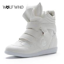 Волк, который кроссовки из плотной ткани на платформе для Для женщин Isabel повседневная женская обувь с высоким берцем Hook & Loop женская обувь теплые зимние ботинки