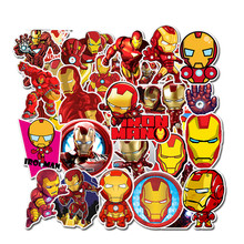 35Pcs/pack Iron Man Graffiti Stickers Marvel For laptop Mouse Motorcycle Skateboard Guitar luggage Cute Style Stickers(China)
