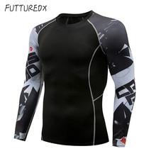 Мужская футболка с длинным рукавом 3D свитер для подростков с длинным рукавом Футболка фитнес Мужская MMA rashgard Футболка мужская брендовая