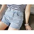 Rebabas agujero pantalones cortos de mezclilla cintura femenina de Corea Del verano mujeres moda de nueva casual pantalones vaqueros cortos femeninos