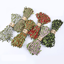5M Hemp Rope Green Leaf jute burlap Hessian ficelle wrapper Twine Cord decoration DIY for craft Gift Pack