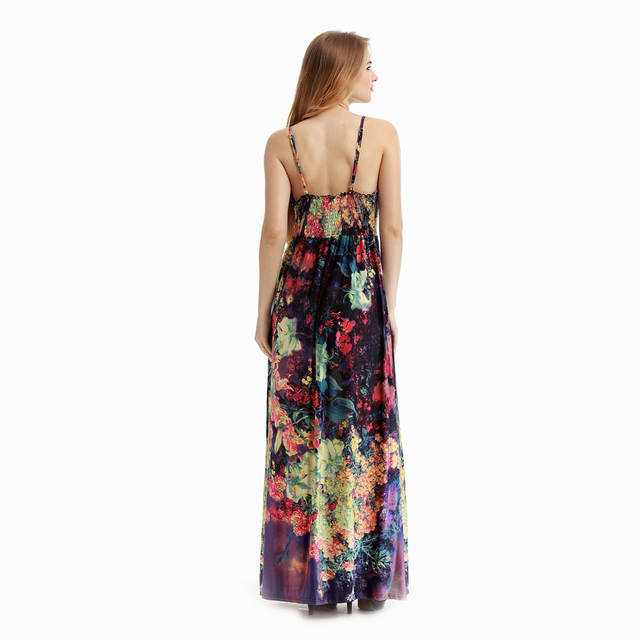 1e5432167d637 Fashion Vintage Boho Maternity Dress for Pregnant Women Sleeveless Dresses  Pregnancy Clothes Sexy V Neck Floral