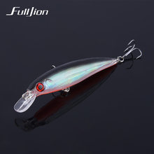 1pcs Fishing Lures 3D Eyes Floating Laser Minnow Hard Aritificial Wobblers Crankbait Plastic Baits Pesca Isca 11cm 13.5g(China)