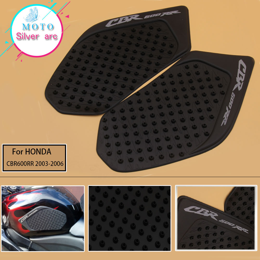 For Honda CBR600RR CBR 600 RR 2003-2006 2005 2004 Tank Pad Protector Sticker Decal Gas Knee Grip Tank Traction Pad Side