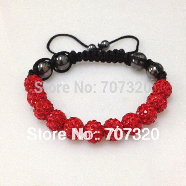 2pcs Lot Shamballa Bracelets 10mm Crystal Ball Shambala Jewelry New Arrivel Mix Colors Options Bs7137a