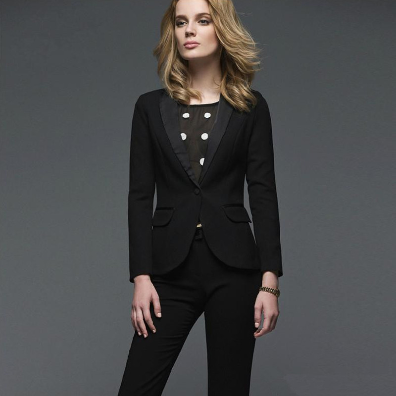 New Promotion New Arrival Pantalones Mujer New Arrivals Custom Made Early Autumn Ol Business Suits Long-sleeved Pants Suit