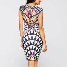 Sell Like Hot Cakes New Vestidos Summer Tropical Floral Print Sleeveless Sheath O-Neck Knee-Length Dress Sexy Casual 2249
