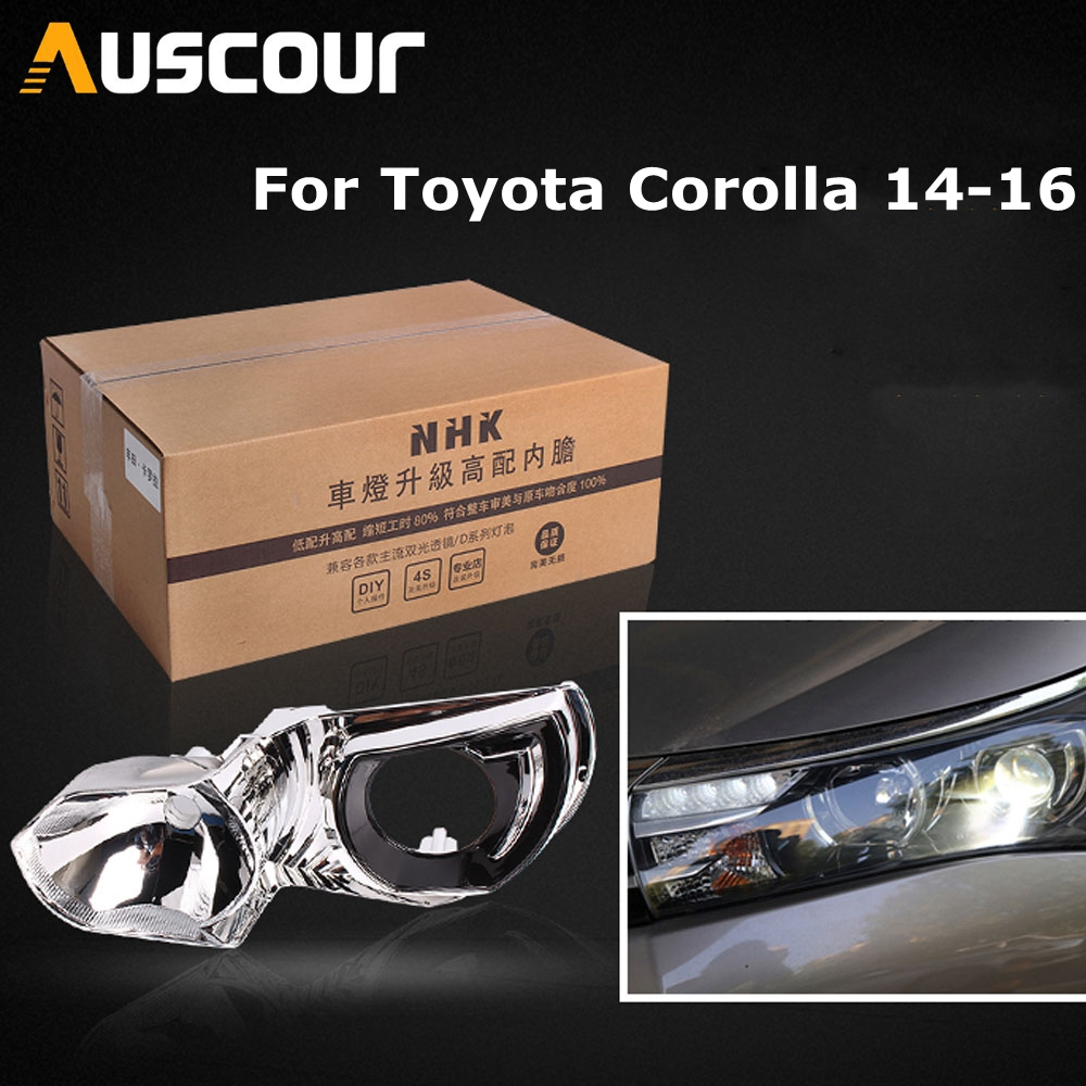 car headlight headlamp high liner lamp upgrade for Toyota Corolla 14-16 without Damage HID DRL 4 Projector Lens q5 hella5 modifycar headlight headlamp high liner lamp upgrade for Toyota Corolla 14-16 without Damage HID DRL 4 Projector Lens q5 hella5 modify