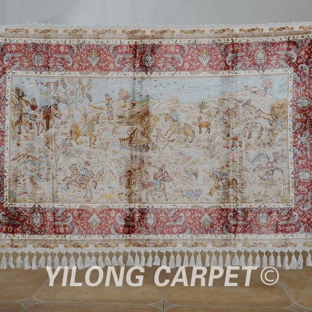Yilong 3 3 X5 6 Persische Jagd Design Teppich Exquisite Rot