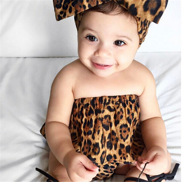 711aa8ab3 Newborn baby girls clothes set Infant 3Pcs suits hot mom leopard print Tops+Pants+  Headband Baby girl clothing set outfit sets