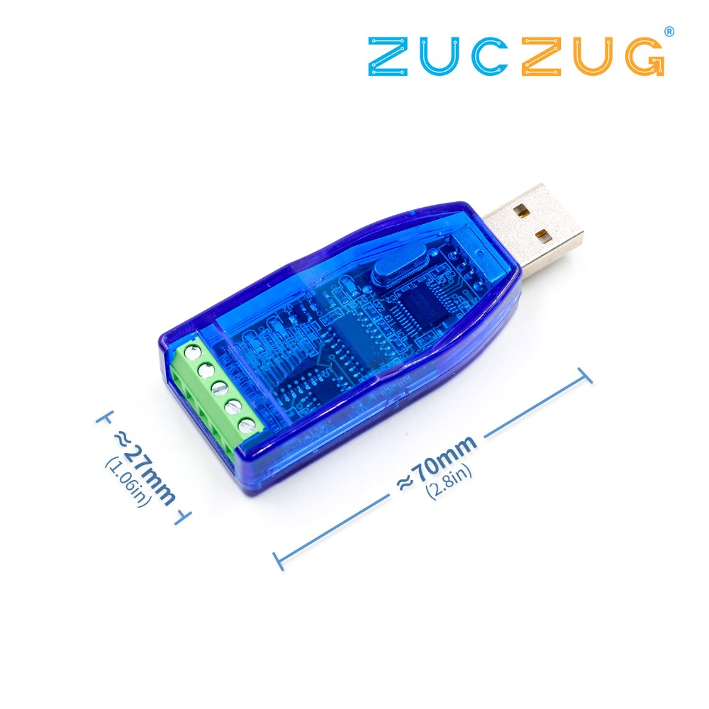 Industrial USB To RS485 Converter Upgrade Protection RS485 Converter Compatibility V2.0 Standard RS-485 A Connector Board Module
