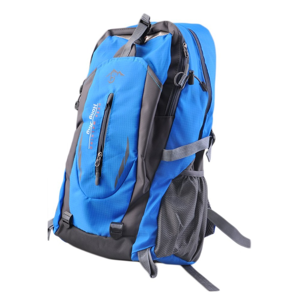 Outdoor Safety Mountaineering Bags 40L Water Repellent Nylon Shoulder Bag Men And Women Travel Hiking Camping Backpack стоимость