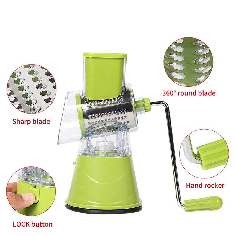 Manual Vegetable Cutter Slicer Multifunctional Round Mandoline Slicer Potato Cheese Gadgets Kitchen Accssories (7)