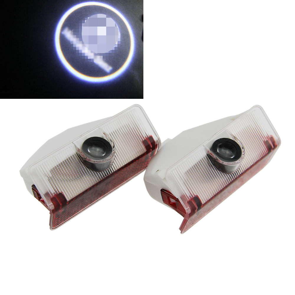 2Pcs Car LED Door Lamp Logo Projector 3D Welcome Ghost Shadow Laser light For Mercedes Benz GLK 300 350 X204 Door Step Courtesy