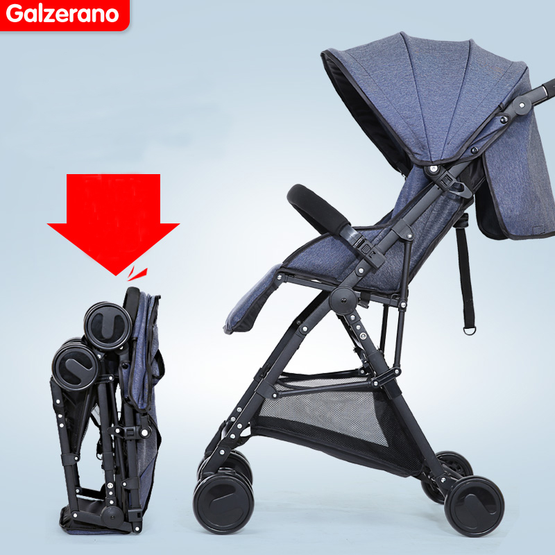Baby stroller light portable four wheel car umbrella suspension folding baby stroller