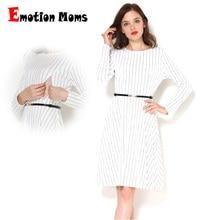 Emotion Moms/весенне-осенняя одежда с длинными рукавами для беременных и кормящих мам; Лоскутная Одежда для грудного вскармливания для беременных женщин