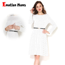 Emotion Moms Spring Autumn Long Sleeve Maternity Nursing Clothing Patchwork Breastfeeding Clothes For Pregnant Women
