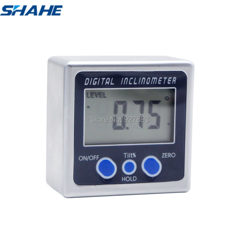 Electronic Angle Instruments : Digital level angle electronic protractor inclinometer