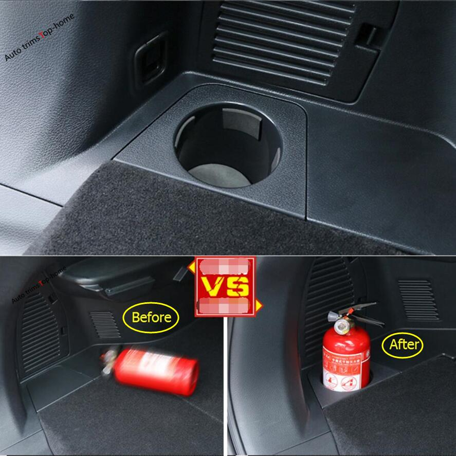 Plastic Fire Extinguisher Cup Holder Support Cover 1 Pcs For Nissan X-Trail X Trail T32 Rogue 5 Seat Model 2017 2018 fog light lamps kit for nissan rogue x trail t32 x trail without auto 2017