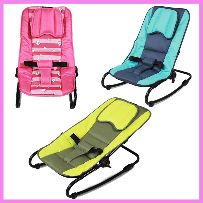 Adjustable Baby Rocking Chair Portable Folding Baby Lounge Balance Chair Swing Can Sit Lie Recliner Rocking Chair for Children extra large children shampoo chair the shampoo chair baby shampoo chair