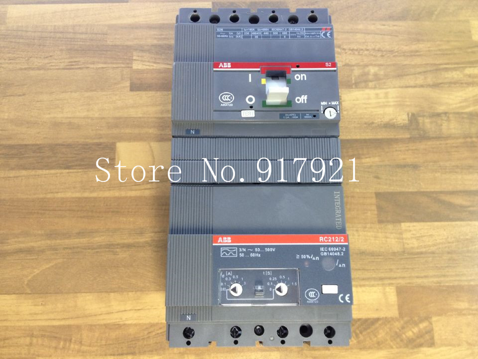 [ZOB] The United States original S2N160 R160 4P FFC+RC212/2 4P160A residual current circuit breaker