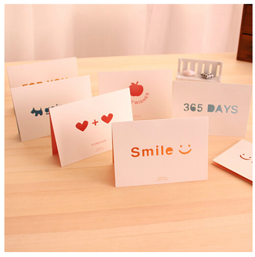 korea creative new year greeting card love confession birthday gift romantic small cards with envelopes clear
