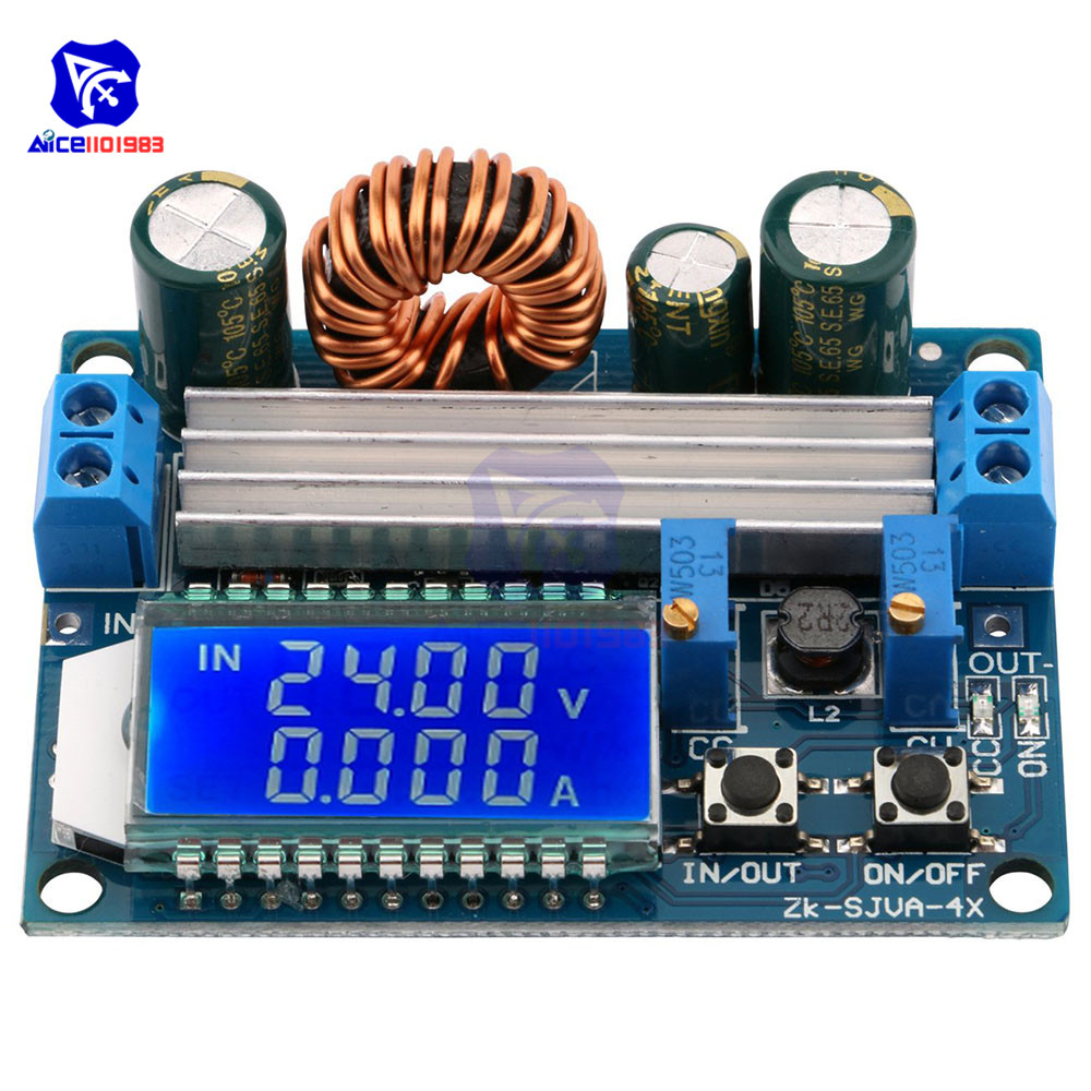 Adjustable CC/CV Step Up Down Power <font><b>Supply</b></font> Module LCD Display <font><b>DC</b></font> 5.5-30V 12V to <font><b>DC</b></font> 0.5-30V 5V 24V 35W Boots Buck Converter Board image