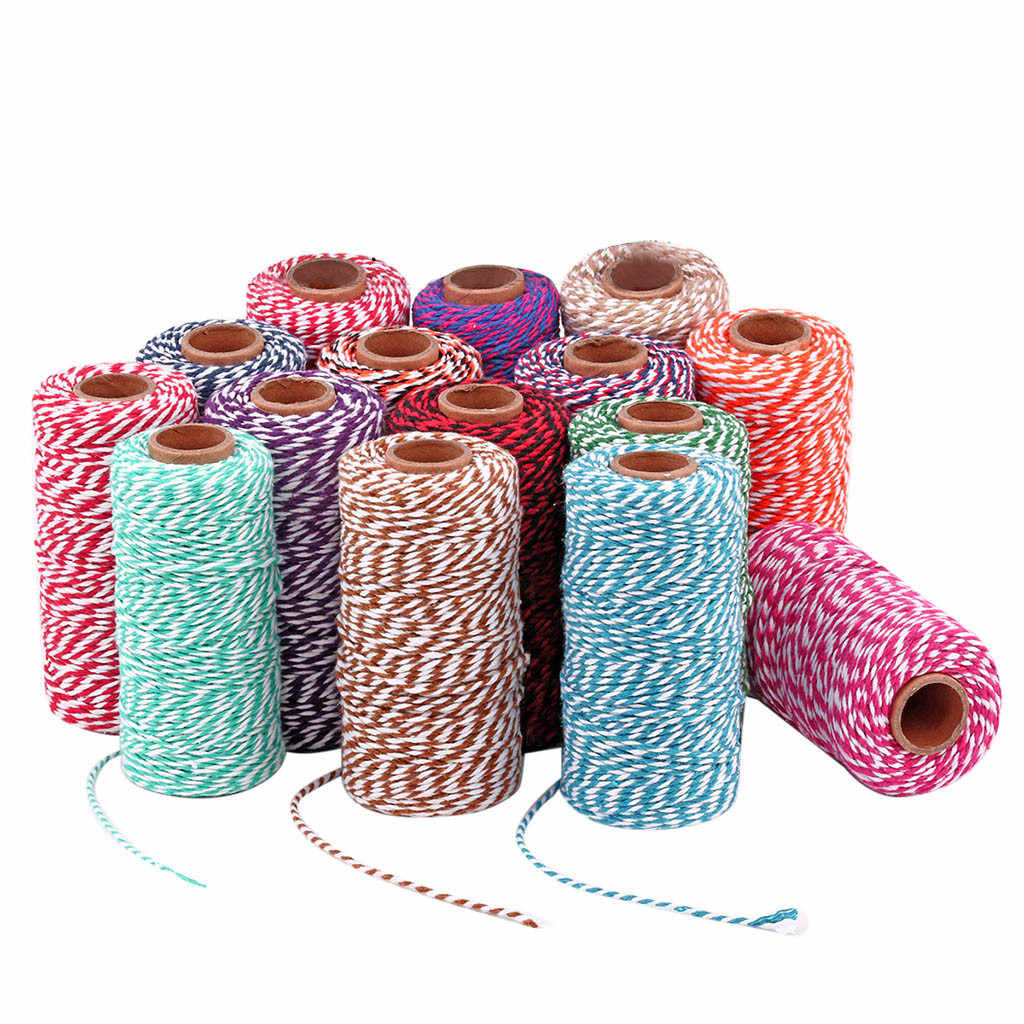 100m * cotton cord Baker rope yarn for handmade accessories Christmas gift decoration DIY cotton rope 2018