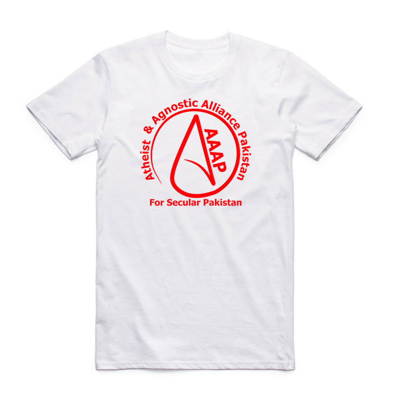 Summer Men Women Print Atheist Symbol Design T Shirt Short Sleeve O