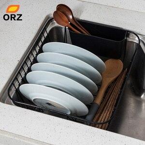 Image 2 - Orz袋水切り乾燥ラック金属キッチンシンクのためのプレートボウルカップ食器棚バスケット