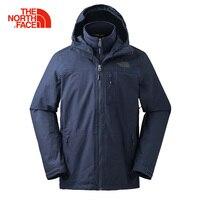 The North Face Пеший Туризм Куртка Водонепроницаемый ветрозащитный износостойкие удобные уличные спортивные Кемпинг флисовой куртки Для мужчин