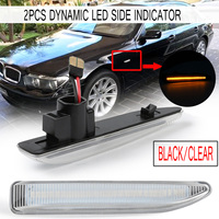 2pcs Dynamic Turn Signal Light Flowing LED Side Marker Lights Side Repeater Lamp 12V Panel Lamp for BMW E65 E66 E67