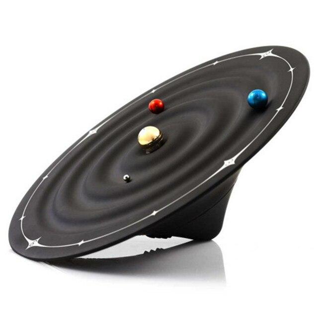 Relojes creativos de mesa con alarma y diseño moderno, relojes magnéticos con diseño de galaxia orbital, relojes de mesa con bolas y decoración para el hogar
