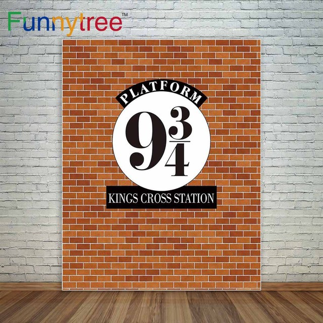 Funnytree background for a photo shoot brick wall harry potter hogwarts magic school station product photography backdrop