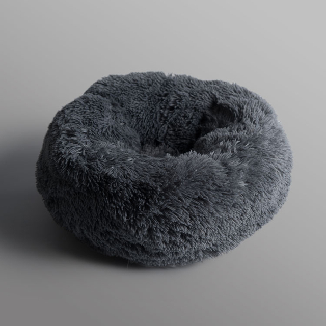 Super Soft Pet Bed Kennel Dog Round Cat Winter Warm Sleeping Bag Long Plush Puppy Cushion Mat Portable Cat Supplies 46/50/60cm 3