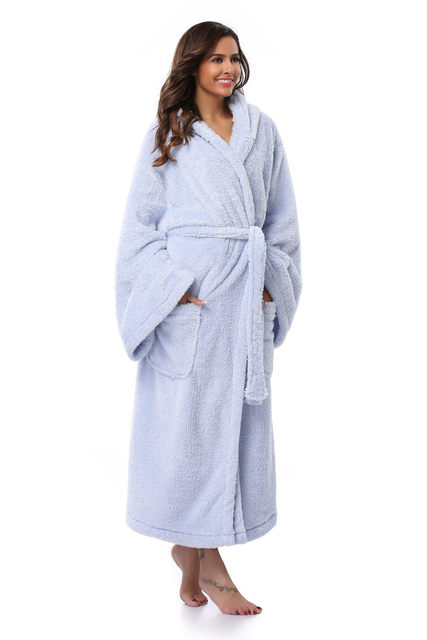 Online Shop Winter Thick Warm Women Robes 2018 Coral Fleece ... cb4bf96fd