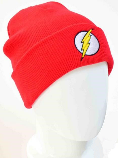 The Flash beanies Comics Superheros the Flash Knit wool cap Hip-Hop hedging  hat Winter hat cap   In Stock   Black   Red Color   28868c960ea