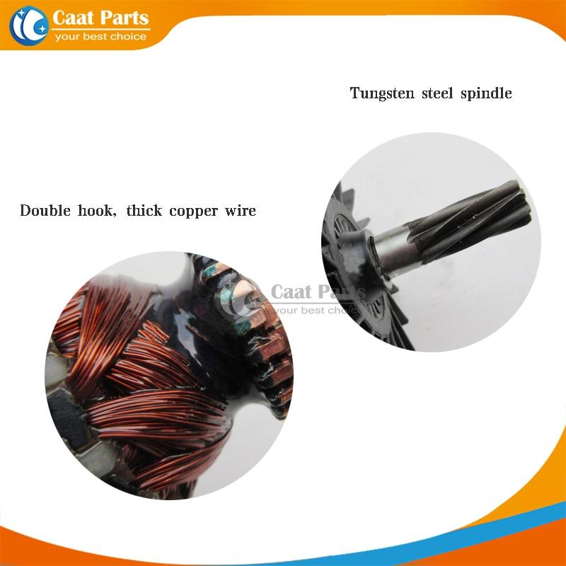 AC220-240V 7 denti ingranaggio albero martello elettrico armatura - Accessori per elettroutensili - Fotografia 3