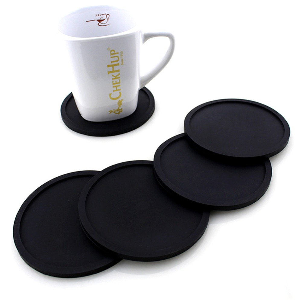 10cm Silicone Non-Slip Placemat Round Cup Mat Tableware Silicone Drink Coaster Placemats For Table Mats Silicone Cup Pads Set
