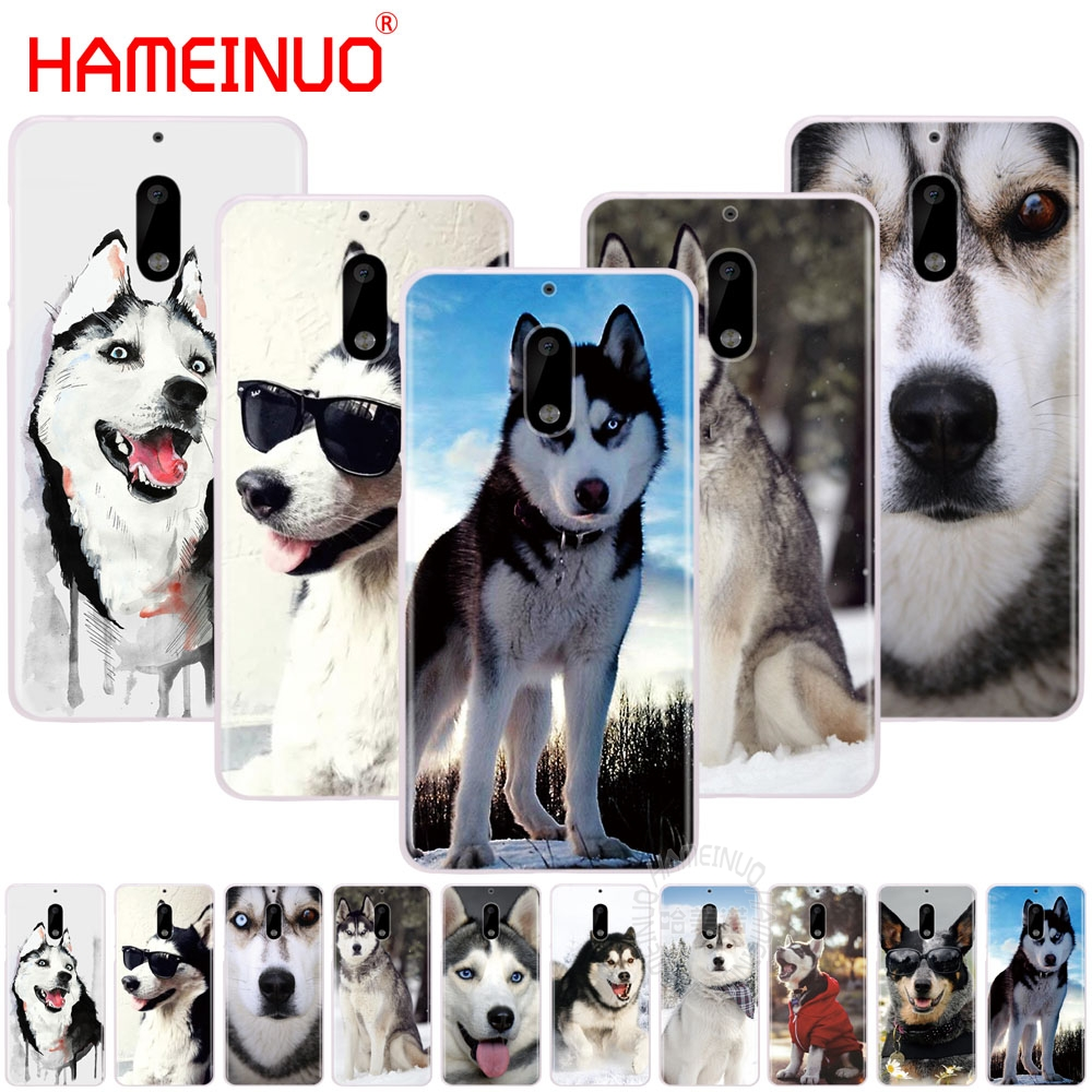 HAMEINUO Husky <font><b>Dog</b></font> cover phone <font><b>case</b></font> for <font><b>Nokia</b></font> 9 8 7 6 5 <font><b>3</b></font> Lumia 640 640XL 2018 image