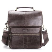 Casual Bag Men Small Shoulder Bags Handbags Genuine Leather Male Luxury Brand For  LJ-843